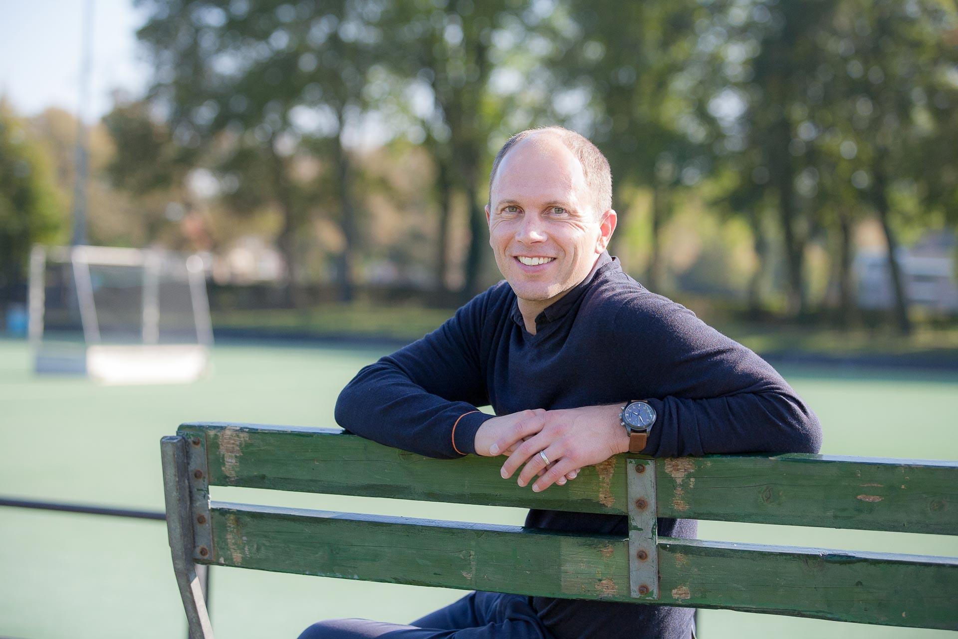 Portret van Teun de Nooijer op hockeyclub Bloemendaal